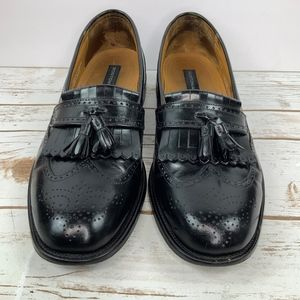 Bostonian Luxe Men's Black Leather Loafers 10.5 M